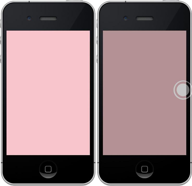 Side by side image of iPhone